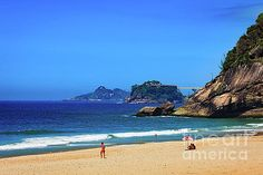 Rio de Janeiro, Brazil - Sao Conrado Beach by Devasahayam Chandra Dhas South American Countries, Amazing Race, Capital City, Vivid Colors, Brazil, My Photos, Things To Come, Metal Detector, Beach