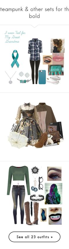 """""""Steampunk & other sets for the bold"""" by valaquenta ❤ liked on Polyvore featuring Topshop, Rails, Speck, Converse, EWA, Mémoire, Rimmel, Nemesis, Burberry and Boohoo"""