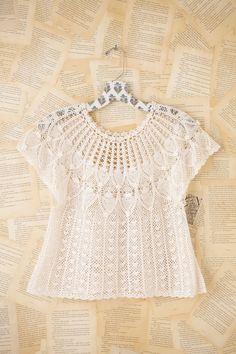 Crochetemoda: Blusa Branca de Crochet ~ Photos Only