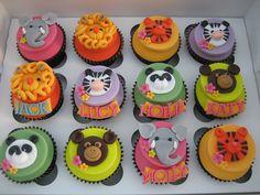 animal cupcakes Zoo Animal Cupcakes, Safari Cupcakes, Animal Cakes, Birthday Cupcakes, Zoo Birthday, Baby Shower Cupcakes, Shower Cakes, Gorgeous Cakes, Amazing Cakes