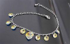 Swarovski Wedding Bridal Bracelets Crystal White Gold Plated Heart Pendants Bracelet Jewelry For Women //Price: $19.99 & FREE Shipping //     #accessories #necklaces #pendants #earrings #rings #bracelets    FREE Shipping Worldwide     Get it here ---> https://www.myladyempire.com/swarovski-wedding-bridal-bracelets-crystal-white-gold-plated-heart-pendants-bracelet-jewelry-for-women/