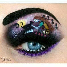 Nightmare Before Christmas Eye Art   #eyeart #eyemakeup #makeup