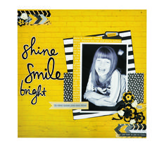 Smile by Kylie Obst You can buy the Kaisercraft 'Shine Bright' collection in the UK from The Craft Channel  https://thecraftchannel.tv/search?q=kaisercraft+shine+bright