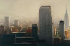 Richard Bunkall City at Mid-day, 48'' x 72'', oil on canvas, 1984