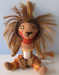 "Disney Simba Lion King Plush 12"" Doll Disney from Broadway Musical, Julie Traymor Designer #Disney at JustLuvTreasures.com"