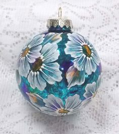 Multi-Colored Hand Painted 3D MUD Floral Ornament 358 by MargotTheMUDLady on Etsy  SOLD!