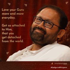On the Joyous Occasion of your Guru more and more everyday. Get so attached to Him, that you get detached from the world. Spiritual Inspiration, Spiritual Quotes, Booklet, Quote Of The Day, Love Quotes, Prayers, Spirituality, Love You, Anniversary Ideas