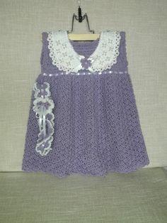 Girl 1st Birthday Outfit Crochet  Dress  Flower Girl by Endzibaby
