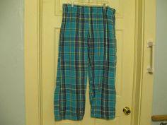 Woman's Pajama Bottoms Plaid Old Navy Intimates XL #OldNavy #LoungePantsSleepShorts