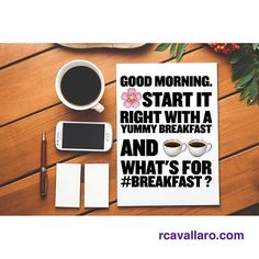 Start the day right #GoodMorning #foodForThought #happysaturday #breakfast