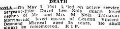 Auckland Star 23/05/1941 Auckland, Family History, Death, Genealogy
