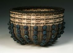 "JoAnne Russo, Artist, Basketry, Water and Warmth (outside), 8"" x 12"" x 12"""