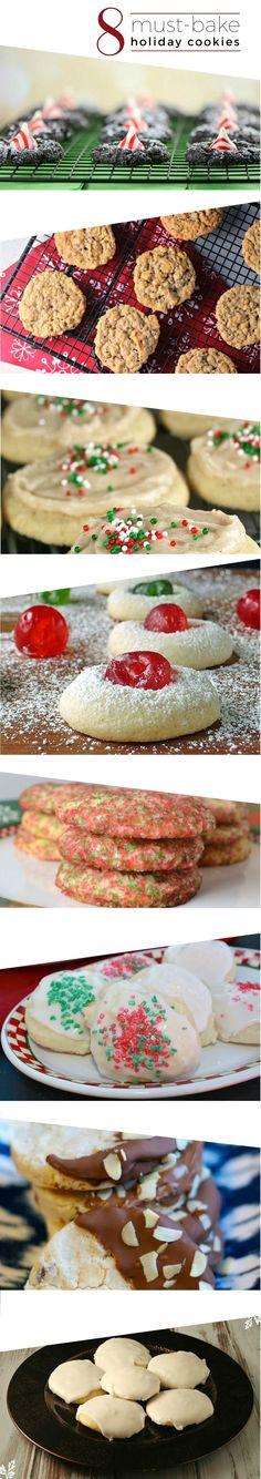 8 MUST-BAKE Holiday Cookies for the Christmas Season and beyond!