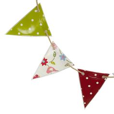 Buy Oily Rag Mixed Songbird Bunting, Classic from our Banners & Bunting range at John Lewis & Partners. Bunting Garland, Garlands, Garden Bunting, Banner, Classic, Day, Prints, Flowers, Fabrics