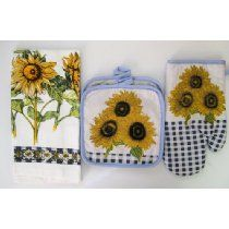 Sunflower Kitchen Decor | Sunflower Kitchen Towel Sets