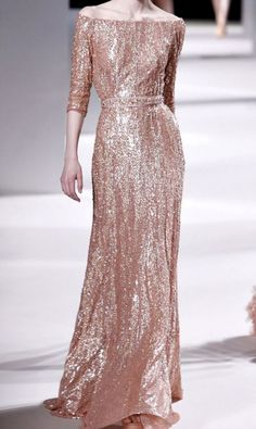 beautiful rose gold dress for the mother of the bride!