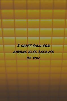 I can't fall for anyone else because of you. #lovesucks #breakup