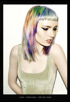 Bleach London. I've always loved this haircut. Could never do it though, it would look awful on me.