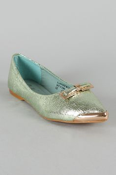 SK0234RX Metallic Bow Pointy Toe Ballet Flat...wow, thanks Jessica for telling me about this website!!