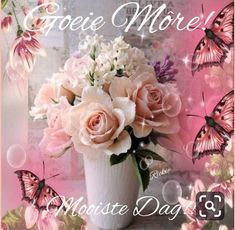 Morning Blessings, Good Morning Wishes, Good Morning Quotes, Lekker Dag, Evening Greetings, Afrikaanse Quotes, Goeie More, Floral Wreath, Quotes Quotes