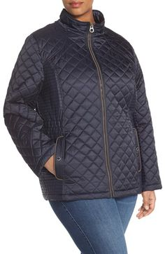 d09e00e5b9d7e Laundry By Design Quilted Jacket with Detachable Hood (Plus Size)