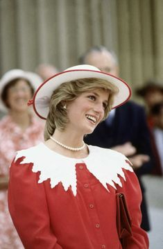 Diana Princess of Wales on June 29, 1983 in Edmonton, Alberta, Canada during the…