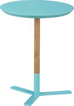 discus aqua side table  | CB2