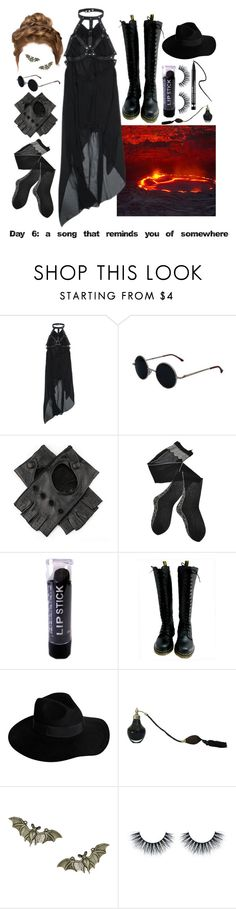 """""""30 day song challenge, day 6: Highway To Hell by ACDC"""" by georginasmith-wastaken ❤ liked on Polyvore featuring Lava, UNIF, Trasparenze, Dr. Martens, By Malene Birger, Giles, Clinique, women's clothing, women and female"""