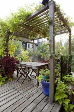 Pergola Bioclimatique Terrasse Bois 25 Ideas For 2019 Rustic Pergola, Wood Pergola, Cheap Pergola, Backyard Pergola, Pergola Swing, Pergola Attached To House, Pergola With Roof, Pergola Shade, Pergola Plans