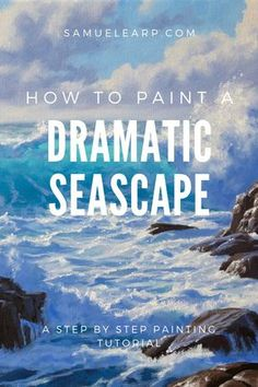 In this painting tutorial I show you step by step how you can paint a seascape full of drama, beauty Acrylic Painting Lessons, Acrylic Painting Techniques, Painting Videos, Art Techniques, Matte Painting, Ink Painting, Watercolor Art, Ocean Art, Ocean Waves