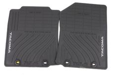 Genuine Toyota Accessories PT9083512020 Front and Rear AllWeather Floor Mat Black Set of 2 *** Find out more about the great product at the image link.