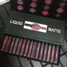 Huda Beauty 16 colours lip gloss 16pcs set