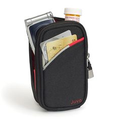 Keep your valuables zipped on your hip with this stylish belt pouch, belt wallet      The Travel Caddy is compact, yet designed with plenty of room for your cell phone, small wallet, credit cards: all the essentials.      With the Travel Caddy your valuables, daily essentials stay close and secure. Go ahead - travel worry free.       Keeps your hands and arms free...