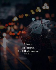 Silence isnt empty..