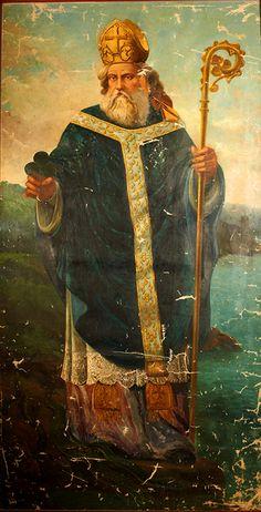 Saint Patrick Oil Painting by Honate x antique appraisal Catholic Art, Catholic Saints, Patron Saints, Roman Catholic, Religious Images, Religious Art, Sainte Therese, Vintage Holy Cards, Irish American