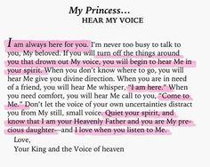 Hear His voice..