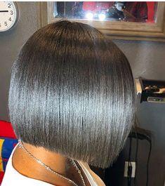 This a nice shorter bob. Natural Hair Bob, Natural Hair Haircuts, Pressed Natural Hair, Short Bob Hairstyles, Natural Hair Styles, Medium Hair Styles, Curly Hair Styles, Fringe Hairstyle, Long Hairstyle