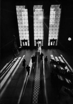 View of Students and Others in Main Entrance at MIT, 1956 - Gjon Mili
