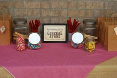 """general store"" sign for candy table"