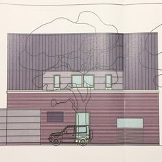 """Gefällt 1 Mal, 2 Kommentare - Auguste das Haus (@augustedashaus) auf Instagram: """"Das ist der Entwurf. Ansicht von vorne mit Haustür und rechts dem breiten Fenster meines eigenen…"""""""