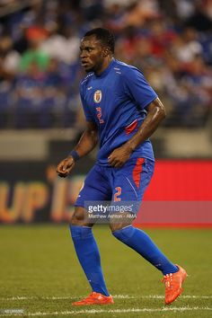 Jean Sony Alcenat of Haiti during the Gold Cup Quarter Final between Haiti and Jamaica at M&T Bank Stadium on July 18, 2015 in Baltimore, Maryland.