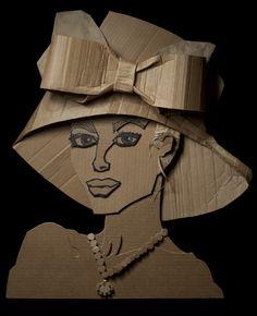 Ali Golzad's wonderful recycled cardboard art.
