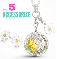 Accessorize and put on the finishing touches with your Origami Owl locket with a dangle or sparkly earrings. http://locketsandcharms.com