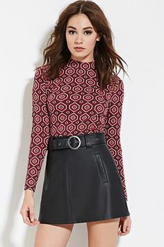 Hexagon Pattern Top   Forever 21 - 2000183343