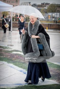 Queen Margrethe of Denmark arrives at the Opera House on the ocassion of the celebration of King Harald and Queen Sonja of Norway 80th birthdays on May 10, 2017 in Oslo, Norway. (Photo by Patrick van Katwijk/Getty Images)