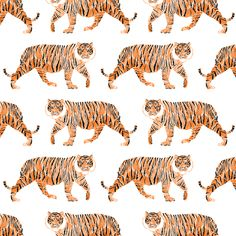 new style bc002 8c16b Colorful fabrics digitally printed by Spoonflower - Watercolor Tiger
