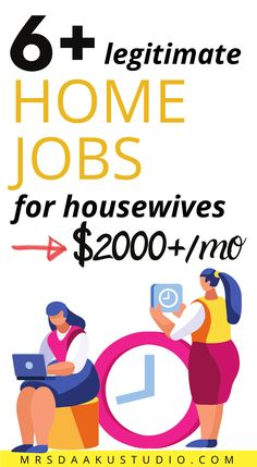 20 easy-to-do-home jobs for housewives. Online jobs for housewives. Online jobs for stay at home moms. #homejobs #onlinejobs #workfromhome #getpaidto Work From Home Options, Work From Home Companies, Online Jobs From Home, Work From Home Jobs, Make Money From Home, Ways To Earn Money, Earn Money Online, Make Money Blogging, Summer Jobs For Teachers