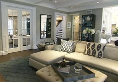Living Room Decorating Ideas on a Budget - Glass French doors. Pocket doors like this for dining room?