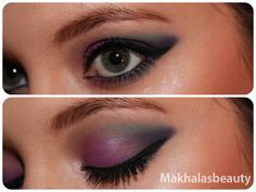 Deep purples and blues were used to achieve this midnight sky look.