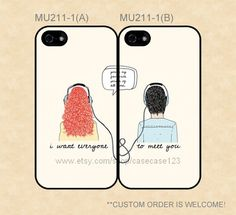MU2111 Eleanor and Park Rainbow Rowell Couple Case by casecase123, $27.99 I'm buying this when I finally get a boyfriend (hah, never) and they love all the same books with me  I will be forever alone